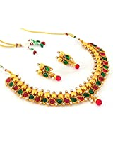 Megh Craft Women's Indian One Gram Gold Plated Polki Jewellery