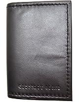 Geoffrey Beene Mens Mirage Slim Gusseted Card Case Black