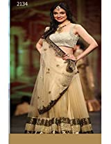Bollywood Replica Divya Khosla Embroidered Designer Cream Lehenga Choli