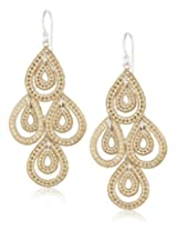 Anna Beck Designs Gili Gold-Plated Sterling Silver Teardrop Chandelier Earrings