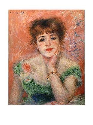 Legendarte Leinwandbild Jeanne Samary In Abito Scollato di Pierre Auguste Renoir