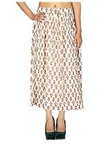 Rajrang Women's Wear Cotton Crape Long Indian Skirt