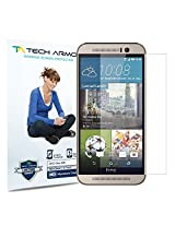 Tech Armor New 2014 HTC One (M9) High Defintion (HD) Clear Screen Protectors - Maximum Clarity and Touchscreen Accuracy [3-Pack] Lifetime Warranty
