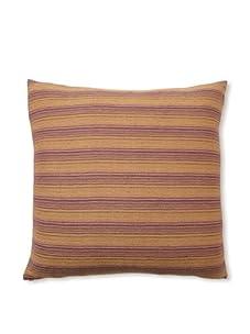 "D. Bryant Archie Berber Stripe Pillow, Amythest/Citrine, 22"" x 22"""