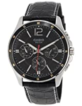 Casio Enticer Black Dial Men's Watch - MTP-1374L-1AVDF (A834)