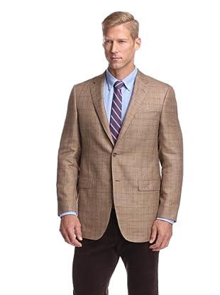 Samuelsohn Men's Windowpane Sport Coat (Tan Plaid)