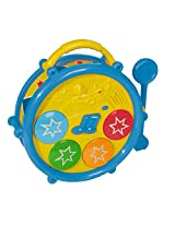 Simba Play&Learn- B/O Baby Musical Drum, Multi Color