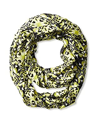 Saachi Women's Two-Toned Ikat Print Infinity Scarf, Lime Black