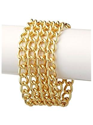 Karine Sultan Jewelry Multi Row Chain Link Bracelet