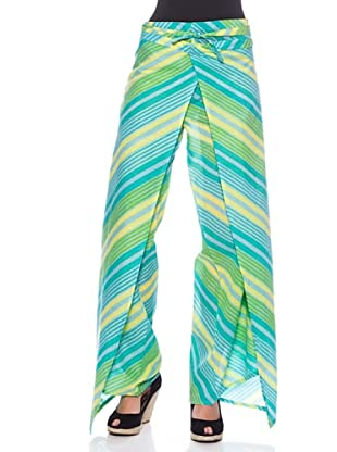 Sigris Pantalón Pareo (Azul / Verde)