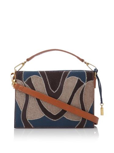 Foley + Corinna Women's Small Letter Bag (Cognac Patchwork)
