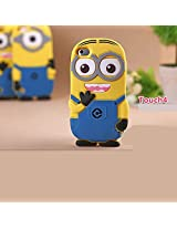 Double Eye Cute Despicable Me Silicone Back Case Cover For Apple Ipod Touch 4