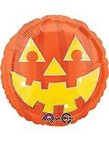 Std Halloween Jack Face Balloon 5 PK