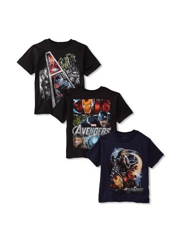 Freeze Boy's Avengers T-Shirt Bundle (Black/Navy/Black)