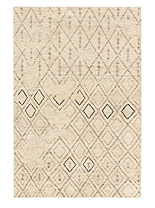 Hand-Knotted Royal Maroc Wool Rug, Cream/Grey, 4' x 6'