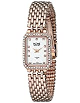 Burgi Women's BUR098RG Rose Tone-Gold Stainless Steel Watch