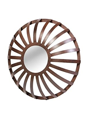 Prima Design Source Metal Strap Floating Mirror, Bronze