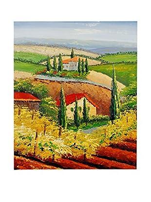 Arte Dal Mondo Ölgemälde auf Leinwand Paesaggio Toscano