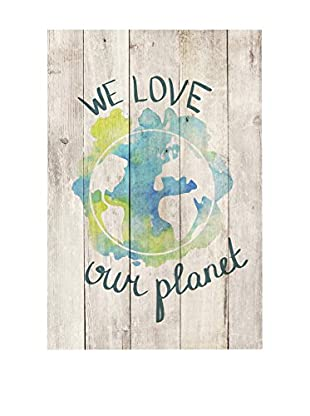 Surdic Panel de Madera Love Our Planet Multicolor