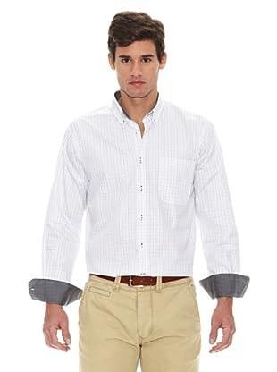 Turrau Camisa Cuadro Medio Ventana (Negro / Gris)