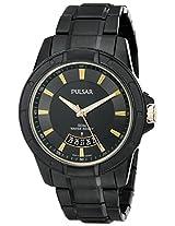 Pulsar Men's PS9273 On The Go Analog Display Japanese Quartz Black Watch