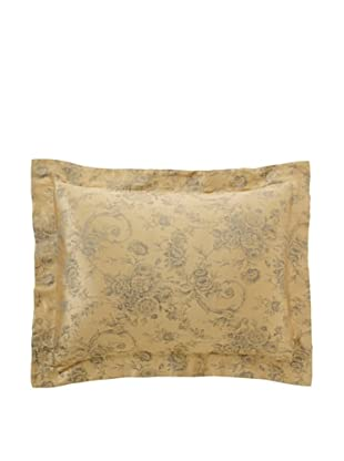 Home Treasures Victoria Floral Sham (Gold/Blue)