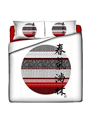 JAPAN MANIA by MANIFATTURE COTONIERE Juego De Funda Nórdica Hinomaru