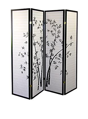 ORE International 4-Panel Room Divider, Bamboo