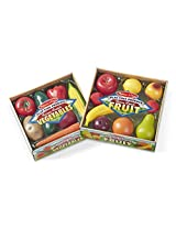 Melissa & Doug Play-Time Bundle Fruits and Vegetables