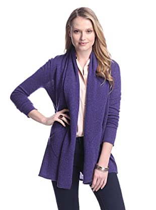 Cashmere Addiction Women's Open Cashmere Cardigan (Twilight)