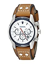 Fossil Mens CH2986 Coachman Analog Display Analog Quartz Brown Watch