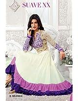 S1018023_White & Blue Colour Designer Anarkali Suit