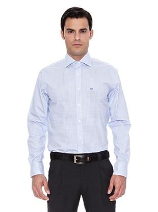 Pedro del Hierro Camisa Non Iron Cuadro (Azul)