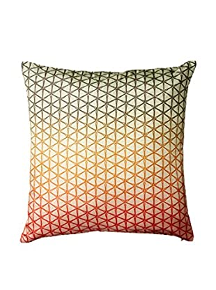 Nitin Goyal London Ombré Geo Silk Throw Pillow