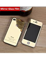 iFyx Golden Coloured Tempered Glass Screen Protector for Apple Iphone 5 5s 5G (front & back)
