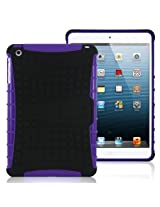 MiniSuit Rugged Rubberized Case + Kickstand for iPad Mini (High Impact Purple Pattern)