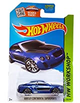 2015 Hot Wheels Hw Workshop - Bentley Continental Supersports (Blue)