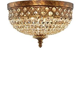 ELK Lighting Montavilla 4-Light Flush-Mount Ceiling Fixture, Spanish Bronze