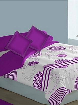 Art Experience Funda Nórdica 3 Piezas Futura (Violeta)