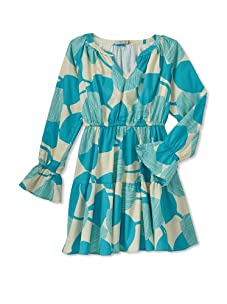 Stun Girl's Montana Dress (Aqua/Cream)