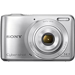 Sony Cyber-shot DSC-S5000 14.1MP Point-and-Shoot Digital Camera (Silver) with Camera Case