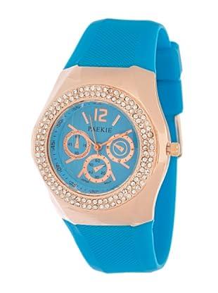My Silver Reloj Rosado Turquesa Strass