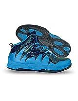 Nivia Men's Warrior-1 PVC Black and Blue Basketball Shoes - 11 UK