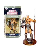 Dc Direct Year 2007 Dc Comics Series 4 First Appearance 6 1/2 Inch Tall Collector Action Figure Warlord With Spear, Sword With Sheath, War Helmet And Display Base