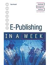 E-Publishing in a week (IAW)