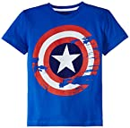 Marvel Boys T-Shirt (AV1CBT678_Royal Blue_13/14 Years)