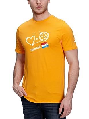 Puma T-Shirt Love Football (flame orange-holland)