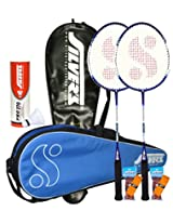 Silver's Delta Badminton Kit Combo 2 with White Nylon Shuttlecock