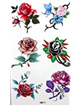GGSELL King Horse Waterproof temporary tattoos affixed men and women fashion sexy variety of roses