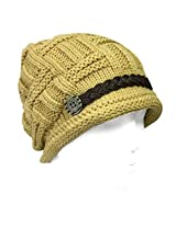 Wrapables Knitted Slouched Ski Cap, Caramel, Caramel